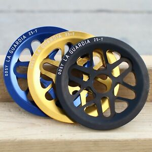 ODYSSEY BMX BIKE LA GUARDIA GUARD BICYCLE SPROCKET BLACK BLUE GOLD