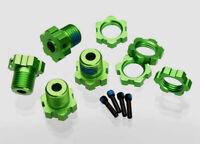 Traxxas 1/10 E-Revo * SPLINED WHEEL HUBS/NUTS 17MM GREEN ANODIZED (4) * 5353G
