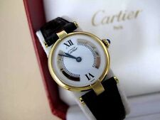 CARTIER WATCH 18K GOLD STAINLES Ladies Cartier Vermeil Cartier Watch with Box