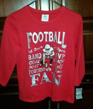 Ohio State University Buckeye Football Ladies Lg Slv Shirt - Size Medium