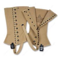 WWII WW2 US Army Outdoors Canvas Leggings Feet Wear  high quality 3R OR 4R