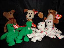 Lot of TY Beanie Babies, Retired, 4 Teenies, Bears, Nuts, Scottie & Blackie, GUC