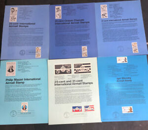 ODZ & ENDZ(6-11) 6 G-VG DIFFERENT AIRMAIL FIRST DAY OF ISSUE SOUVENIR PAGES 1633