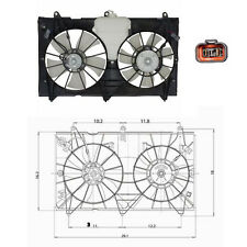 Dual Rad & Cond Fan Assembly Fits: 2003 - 2007 Honda Accord L4 2.4L ONLY