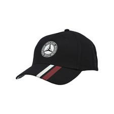 Mercedes Benz 5-Panel Baseball Herren Cap Classic Schwarz Neu OVP