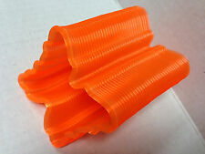 "BUTTERFLY SHAPED SLINKY TRANSLUCENT ORANGE TAIWAN QUALITY VINTAGE 3"" US SELLER"