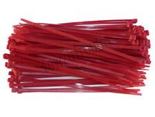 100 x RED Cable Ties 200mm x 4.8mm - Nylon Zip Ties