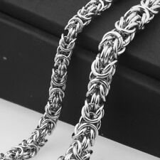 Silver Byzantine Chain Men/Women Necklace 6/8/10Mm High Quality Stainless Steel