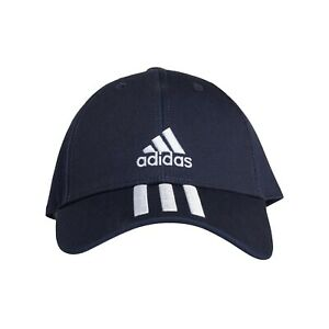 Adidas Basecap Baseball 3-Streifen Kappe Mütze Cap navyblau Baumwolle