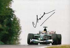Antonio Pizzonia mano firmado Jaguar Racing F1 12x8 Foto.