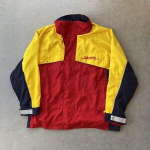 DHL Employee Uniform Mens Delivery Windbreaker Jacket Coat UPS Fedex USPS 2XL
