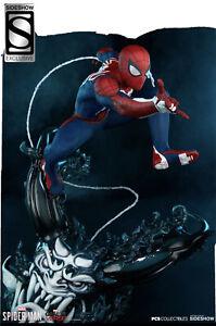 Sideshow Spider-Man Advanced Suit Statue PCS Collectibles Disney Avengers #237