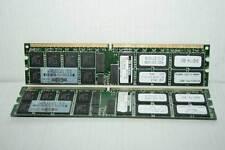 KIT MODULI RAM DIMM DDR2 HP 2X 2GB PC2-3200R CL3 USATI OTTIMO STATO EL1 42381