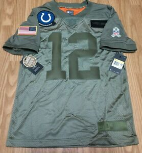 Men's Nike Andrew Luck Salute To Service Colts Jersey Size Small BQ0557-227