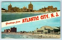 Vintage Postcard Banner Greetings From Atlantic City New Jersey NJ