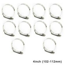 10pcs 4'' inch Stainless Steel T-Bolt Clamp Turbo Intake Silicone Hose Coulper