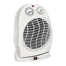 Oscillating Compact Space Heater Fan Portable Home 1500W, Adjustable Thermostat