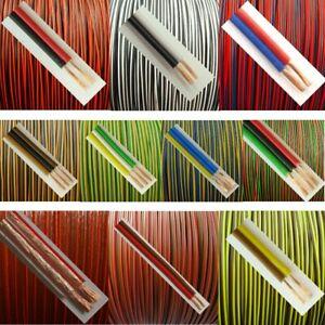 LiYz 0,14mm² Kabel Zwillingslitze 2-adrig Drillingslitze 3-adrig zur Auswahl