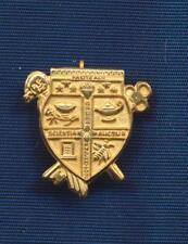 Vintage Facite Alii Opera Pulchritudo Scientia Auctus Coat of Arms Pin
