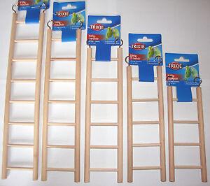 Wooden Ladder Cage Toys Bird Budgie Rodent Hamster Mouse Gerbil Degu Rat