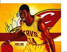 CLEVELAND CAVS HENRY SIMS SIGNED 8X10