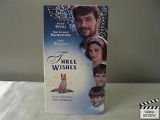 Three Wishes VHS Patrick Swayze, Marry Elizabeth Mastrantonio, Joseph Mazzello