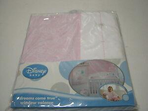 "NEW Disney Baby Princess ""Dreams Come True"" Window Valance Pink and White NIP"