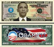 BARACK OBAMA 2012 BILLET COMMEMORATIF DOLLAR US! Collection PRESIDENT ETATS UNIS