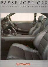 Toyota Colour & Trim 1991 UK Market Foldout Brochure Starlet Corolla MR2 Carina