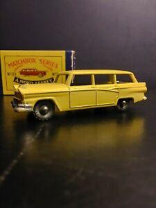 Matchbox Lesney #31 American Station Wagon Yellow VNM In Original Box