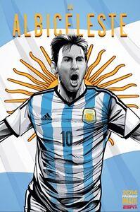 Poster Lionel Messi Leo Argentinien Albiceleste 10 WM Brasilien 2014 Football