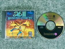 Ys III: Wanderers From Ys (TurboGrafx-CD, 1991) disc manual only nec hudson soft