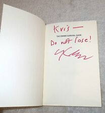 ZOMBIE SURVIVAL GUIDE Book MAX BROOKS Autographed SIGNED Perfect Gift for Kris!