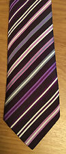 "Paul Smith MULTISTRIPE TIE VIOLET ""MAINLINE"" 8cm Blade Made in Italy"