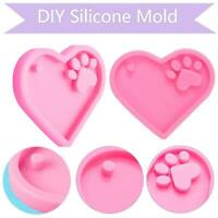 Shiny Love Heart Shape Silicone Molds For DIY Keychain Epoxy Resin Mold UK FAST