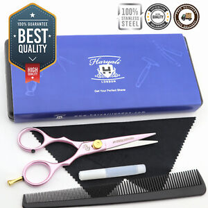 """Professional 5.5"""" Haircutting Barber Scissor with Hair Dressing Comb & Oil"""