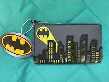 Nwt Loungefly Dc Comics Batman 80th Anniversary City Bat Signal Flap Wallet