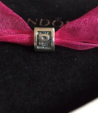 Authentic Pandora Letter P  Sterling Silver Initial Charm #790323 Bead Alphabet