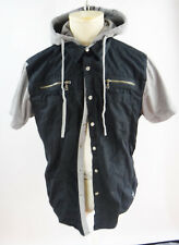 GUESS short sleeve xl black shirt gray hoodie layered vest fitted