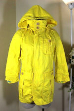 DSQUARED 2 Yellow Cotton Jacket Trench Coat Zip Up Jacket Small 40 4 5 6