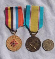 Australian Korean war Veterans Association & Service medals.