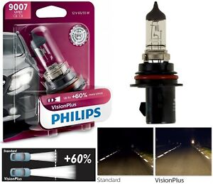 Philips VIsion Plus 60% 9007 HB5 65/55W One Bulb Head Light Dual Beam Replace OE