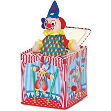 TRADITIONAL CIRCUS STYLE CLOWN POP UP JACK IN THE BOX TOY MUSICAL CHILDS KIDS
