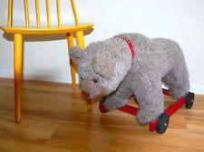 OOAK Teddy Bear on Wheels Original by Artist  Cindy Frisby One of a Kind