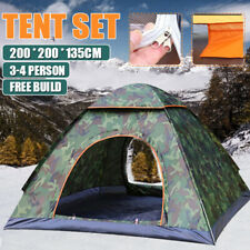 3-4 Person Tent Waterproof Automatic Instant Pop Up Outdoor Camping