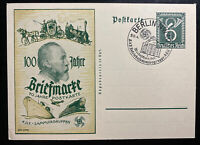 1940 Berlin Germany First Day Postcard Cover FDC Postal Stamp Centenary