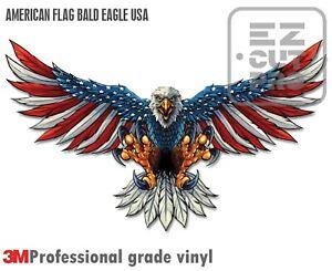 AMERICAN FLAG BALD EAGLE USA MADE DECAL STICKER 3M TRUCK VEHICLE WINDOW WALL CAR