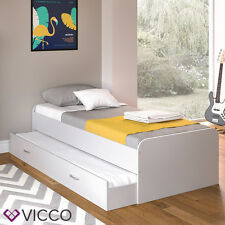 VICCO Kojen Bett Enzo Jugendbett mit Gästeliege Funktionsbett in weiß 90x200 cm