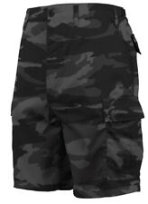 Negro de Hombre Camuflaje Bdu Pantalones Cortos Oscuro Camuflaje Rothco 1817