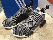 USED Adidas Men's NMD CS1 PK NOMAD PRIMEKNIT CITYSOCK S7915 Black White SZ 10.5